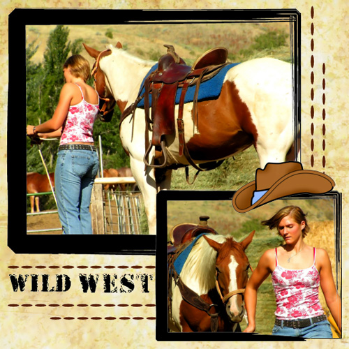"Scrapbook template ""Wild West #08"" in ""Travel"""