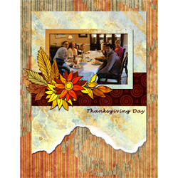 "Scrapbook template ""Thanksgiving 2011 #01"" in ""Thanksgiving"""