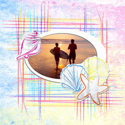 "Scrapbook template ""Surfing #18"" in ""Summer Vacation"""
