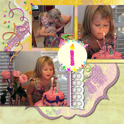"Scrapbook template ""Birthday party #02"" in ""Birthday Scrapbooking"""