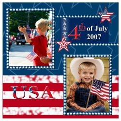 "Scrapbook template ""Independence Day #4"" in ""Independence"""