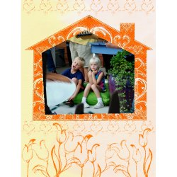 "Scrapbook template ""Home #07"" in ""Home"""