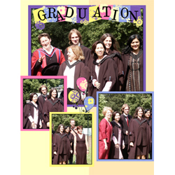 "Scrapbook template ""Graduation #13"" in ""Graduation"""