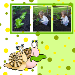 "Scrapbook template ""Garden #16"" in ""Nature"""