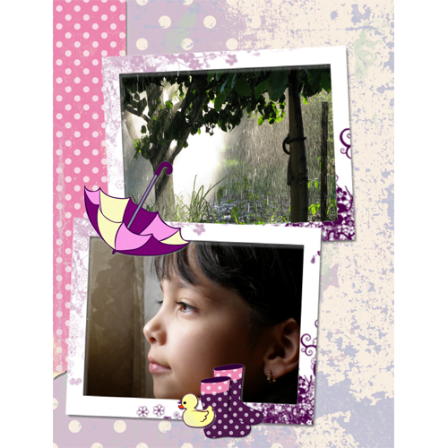 "Scrapbook template ""Rainy Day #11"" in ""Seasonal"""