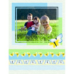 "Scrapbook template ""Spring #17"" in ""Spring"""