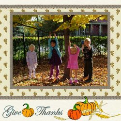 "Scrapbook template ""Thanksgiving #06"" in ""Thanksgiving"""