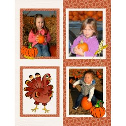 "Scrapbook template ""Thanksgiving #07"" in ""Thanksgiving"""
