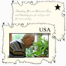 "Scrapbook template ""Memorial Day #27"" in ""Memorial Day"""
