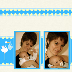 "Scrapbook template ""Baby Shower #20"" in ""Baby Shower"""