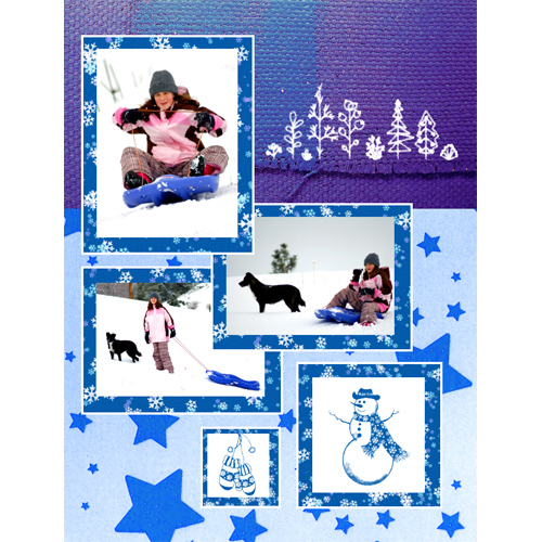 "Scrapbook template ""Winter time #05"" in ""Winter Vacation"""