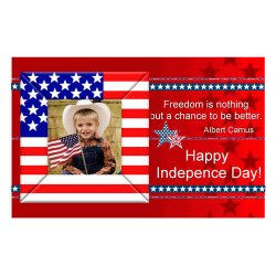 "Scrapbook template ""Independence Day Card #4"" in ""Independence"""