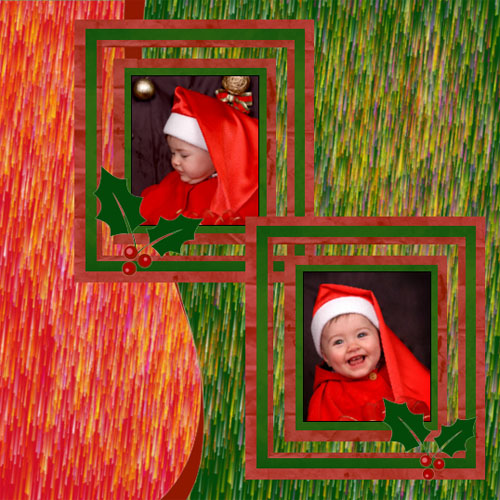 "Scrapbook template ""Christmas 2009 #05"" in ""Christmas Scrapbooking"""