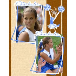 "Scrapbook template ""Cheerleaders #09"" in ""Cheerleaders"""