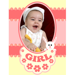 "Scrapbook template ""Baby Shower #19"" in ""Baby Shower"""