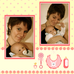 "Scrapbook template ""Baby Shower #12"" in ""Baby Shower"""