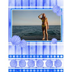 "Scrapbook template ""Sea life #20"" in ""Sea life"""
