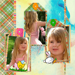"Scrapbook template ""Easter #38"" in ""Easter"""