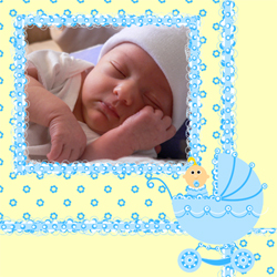 "Scrapbook template ""Baby Shower #18"" in ""Baby Shower"""