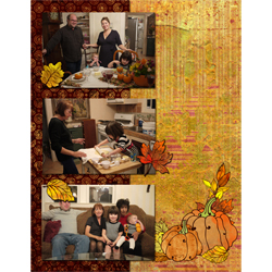 "Scrapbook template ""Thanksgiving 2011 #05"" in ""Thanksgiving"""