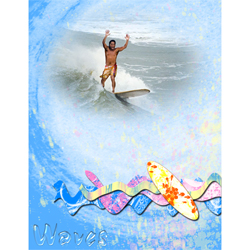 "Scrapbook template ""Surfing #01"" in ""Summer Vacation"""