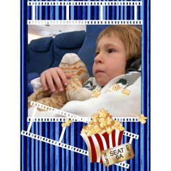"Scrapbook template ""Cinema #05"" in ""Fan Pages"""