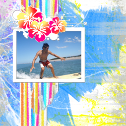"Scrapbook template ""Surfing #10"" in ""Summer Vacation"""
