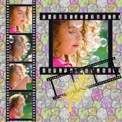 "Scrapbook template ""Cinema #06"" in ""Fan Pages"""