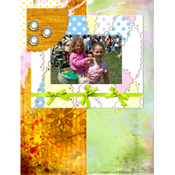 "Scrapbook template ""Easter 2010 #17"" in ""Easter"""