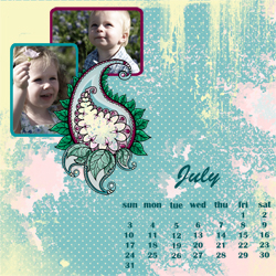 "Scrapbook template ""July 2011 #02"" in ""Calendars 2011"""