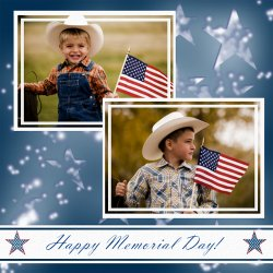 "Scrapbook template ""Memorial Day #30"" in ""Memorial Day"""