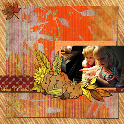"Scrapbook template ""Thanksgiving 2011 #02"" in ""Thanksgiving"""