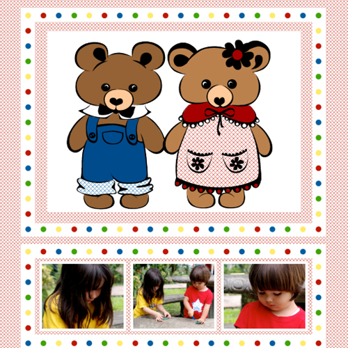 "Scrapbook template ""Toy Store #14"" in ""Baby Scrapbooking"""