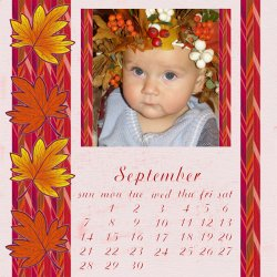"Scrapbook template ""September 14"" in ""Calendars 2008"""