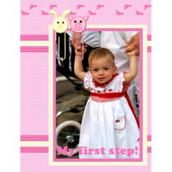"Scrapbook template ""Baby firsts #15"" in ""Firsts"""