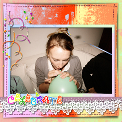 "Scrapbook template ""Birthday party #08"" in ""Birthday Scrapbooking"""