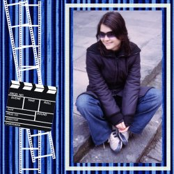 "Scrapbook template ""Cinema #16"" in ""Fan Pages"""