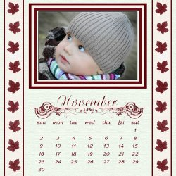 "Scrapbook template ""November #18"" in ""Calendars 2008"""