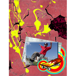 "Scrapbook template ""Skateboard #13"" in ""Sport"""