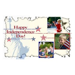 "Scrapbook template ""Independence Day Card #10"" in ""Independence"""