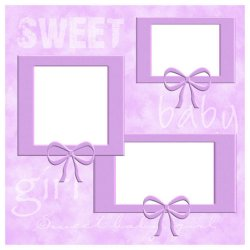 "Scrapbook template ""Sweet Baby Girl #3"" in ""Baby Scrapbooking"""