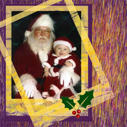 "Scrapbook template ""Christmas 2009 #03"" in ""Christmas Scrapbooking"""