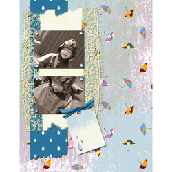 "Scrapbook template ""Rainy Day #15"" in ""Seasonal"""