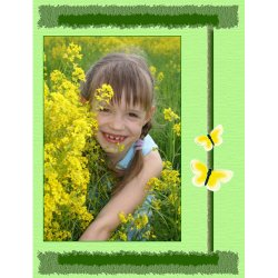 "Scrapbook template ""Spring #16"" in ""Spring"""