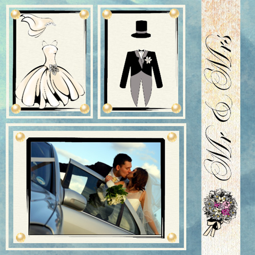 "Scrapbook template ""Wedding #12"" in ""Wedding Scrapbooking Templates"""