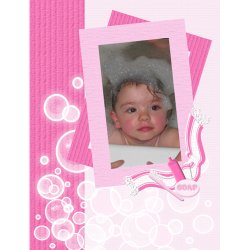 "Scrapbook template ""Baby firsts #05"" in ""Firsts"""