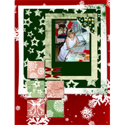 "Scrapbook template ""Christmas 09 #13"" in ""Christmas Scrapbooking"""