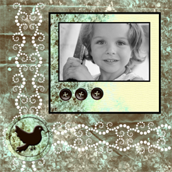 "Scrapbook template ""Shabby chic #14"" in ""Shabby chic"""
