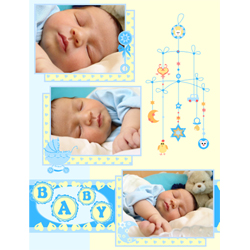 "Scrapbook template ""Baby Shower #03"" in ""Baby Shower"""