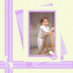 "Scrapbook template ""Baby firsts #12"" in ""Firsts"""